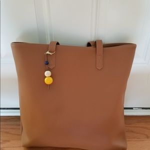 Handbags - Faux leather boutique purse with beaded charm